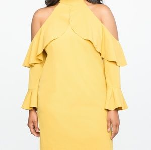 Eloquii cold shoulder ruffle dress